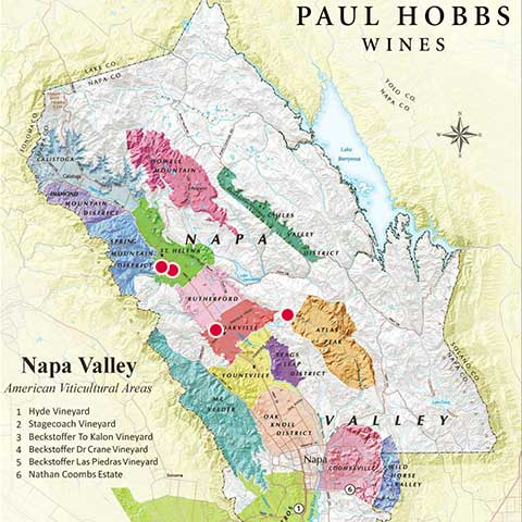 Paul Hobbs Weinlagen im Napa Valley