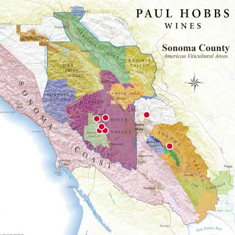 Paul Hobbs Weinlagen in Sonoma County